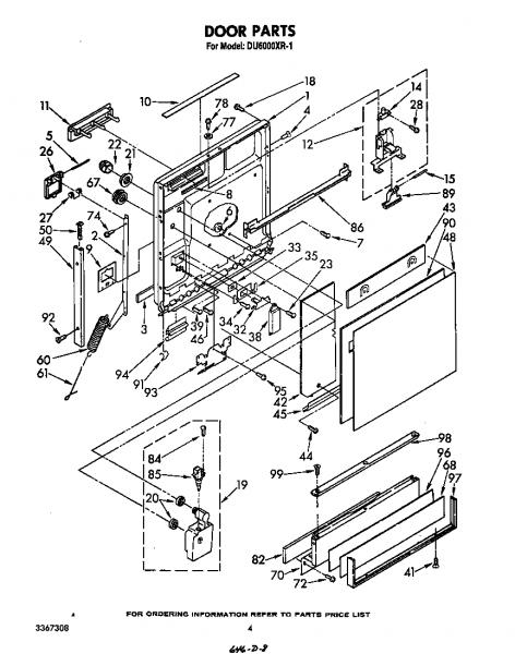 Whirlpool Dishwasher Schematic