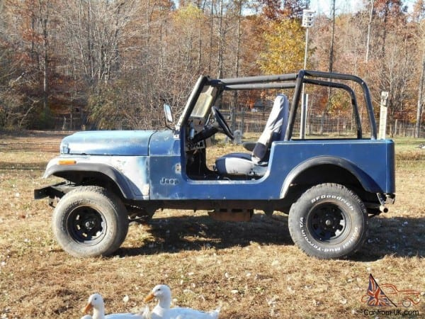 1979 Jeep Cj7 With Yj Wrangler Tub Project Or Parts Cj