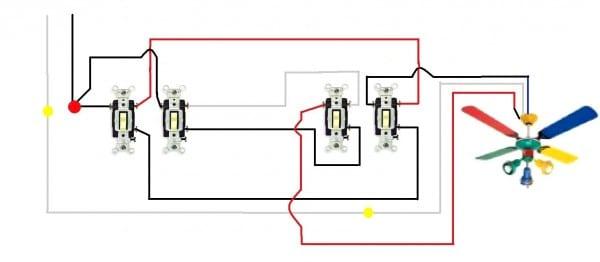 Ceiling Fan Remote Wall Switch Wiring Plan