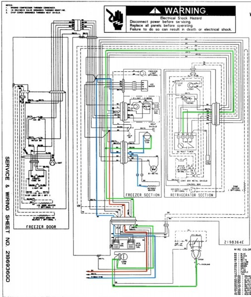 Whirlpool Refrigerator Electrical Diagram