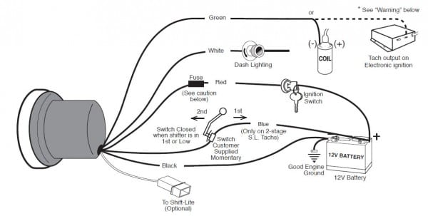 Autometer Tachometer Wiring Instructions