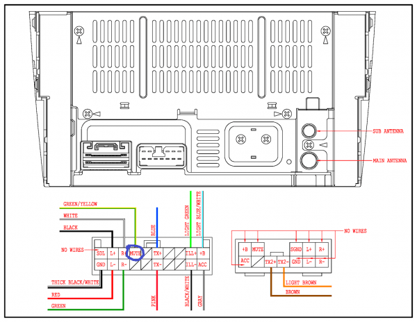 Stereo Head Unit Wiring Diagram