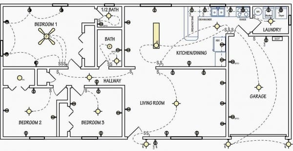 House Plan With Electrical Layout Fresh Electrical Symbols Are