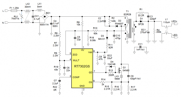 Design Guidelines For Rt7302 And Rt7304 Psr Led Driver