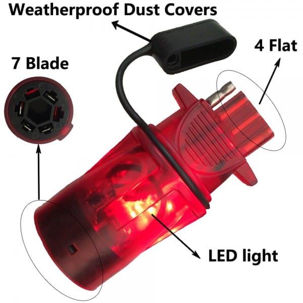 Led Light Test Keeping Work Trailer Plug Adapter Trailer Rv