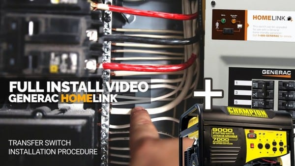 How I Installed The Generac Generator Transfer Switch