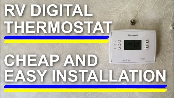 Rv Digital Thermostat Cheap And Easy Install!
