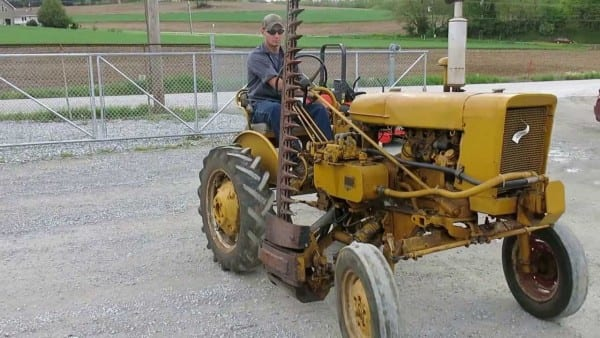 International 140 Tractor With Sickle Bar Mower