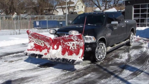 2015 Dodge Ram 2500 Cummins Diesel Snow Plowing Boss V Plow Snow
