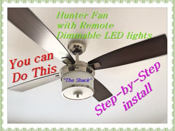 How To Install A Ceiling Fan With Remote, Hunter 52  Kimball