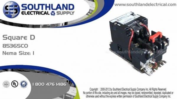 Square D 8536sco3v02 Series A Nema Size 1 Magnetic Motor Starter