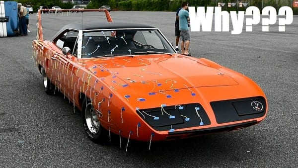 Why Is This Original Plymouth Superbird Covered In Streamers  +le