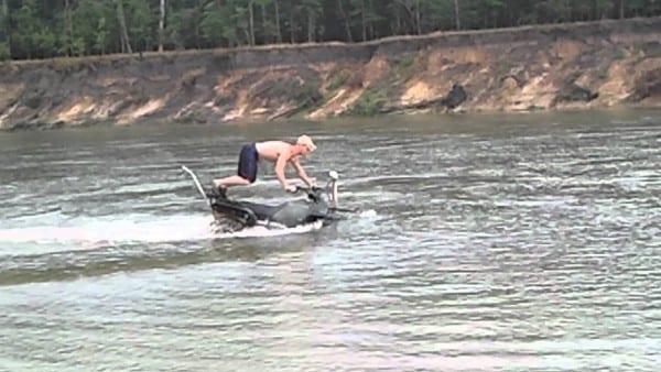 97 Honda 300 Fourtrax 4x4 Snorkel In The River