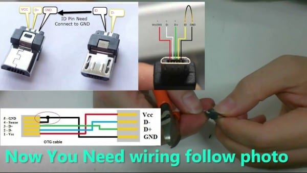Diy Usb Otg Micro Usb To Mini Usb For Audio Dac