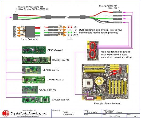Usb Wiring Schematic