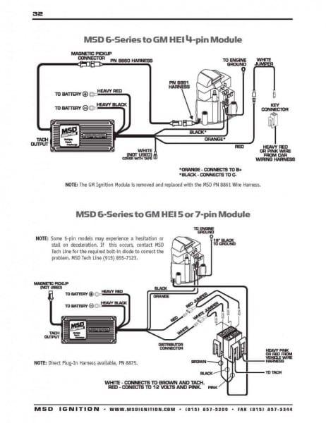 Msd Digital 6 Wiring Diagram Valid Msd Hei Distributor Wiring