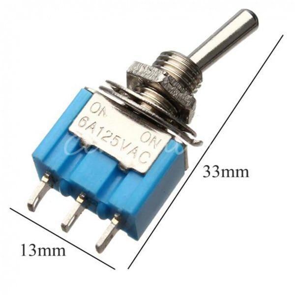 Discount Miniature Toggle Switch Mts 102 Spdt 6a 125vac 3a 250vac