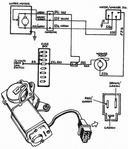 Rear Wiper Motor Wiring Diagram Hd Dump Me Within
