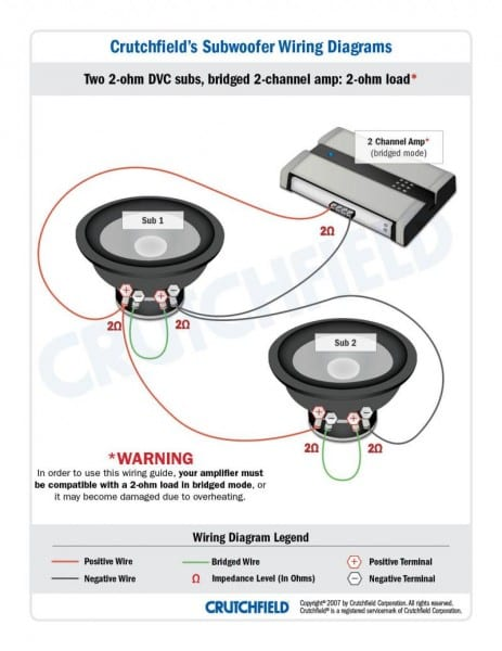 Regular Subwoofer Wiring Diagram 4 Ohm Dual Voice Coil With
