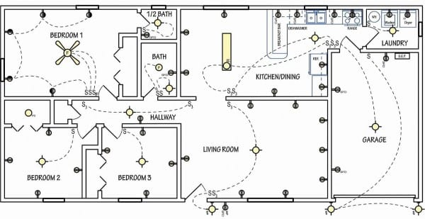 Residential Electrical Plan Symbols