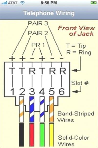 Male Rj11 Pinout Diagram