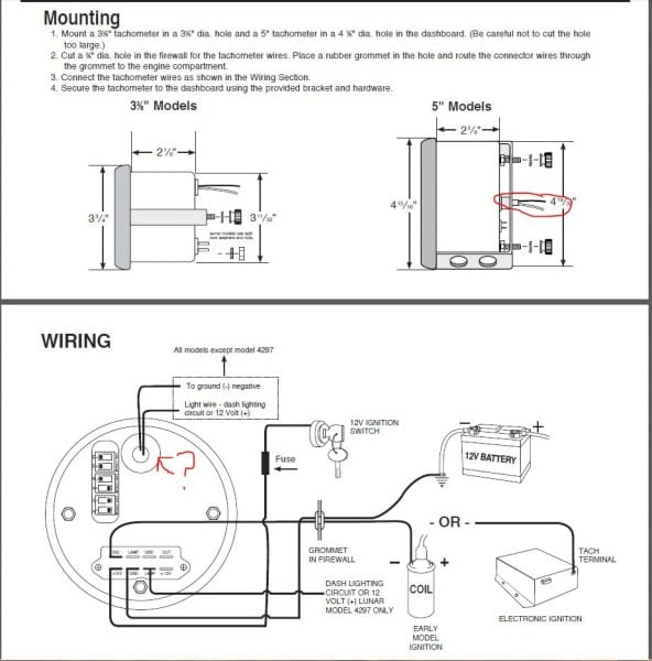 Autometer Tach Instructions