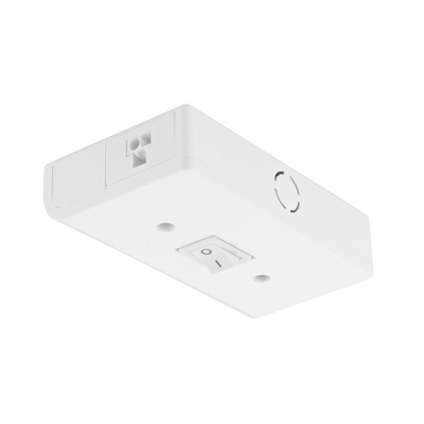 Titan Lighting Puck White Under Cabinet Light Hardwire Junction