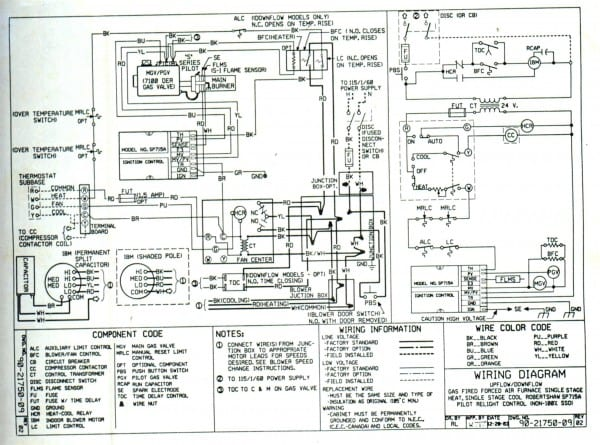 T240 Trane Weathertron Thermostat Wiring Diagram