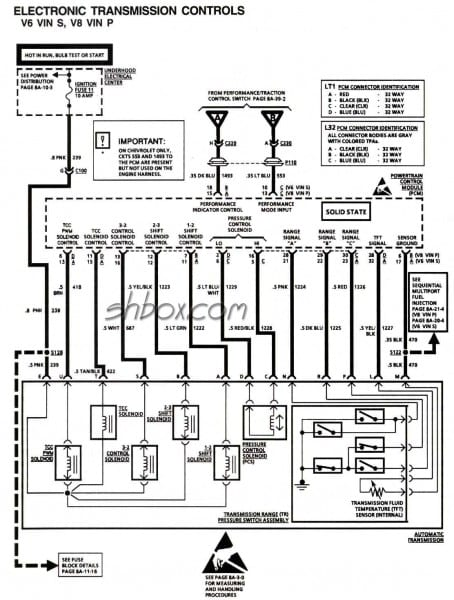 4l60e Wiring Schematic