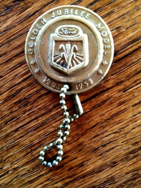 Vintage Ford Tractor Key Chain 1903