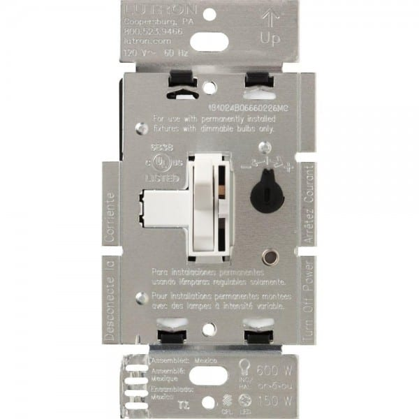 Lutron Toggler C L Dimmer Switch For Dimmable Led, Halogen And