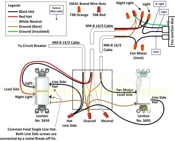 2 Switch 1 Light Wiring Diagram