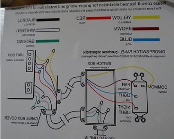 Hampton Bay Fan Wiring Diagram
