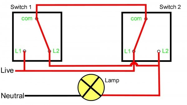 Two Way Light Switch Wiring Diagram Also Two Way Light Switch
