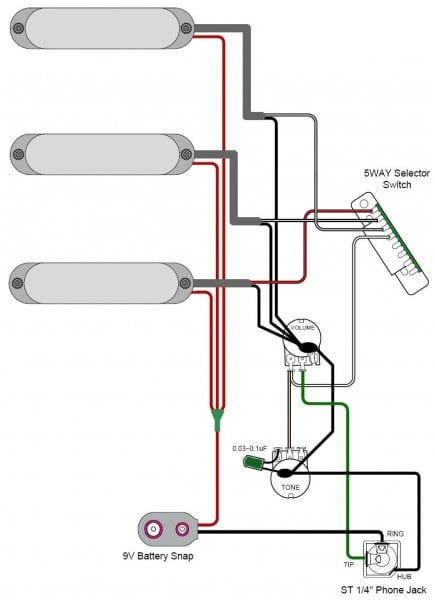 Active Pickup Guitar Wiring Diagrams