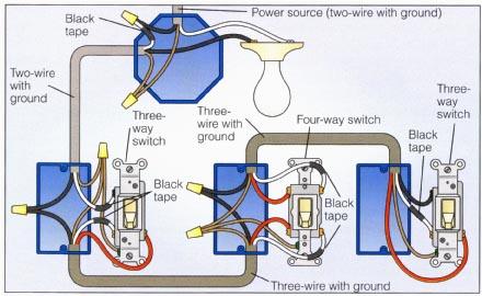 Dimmer 4 Way Switch Wiring Diagram