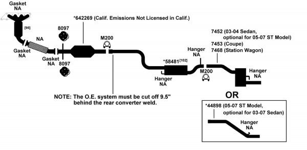 Ford Focus Exhaust Diagram From Best Value Auto Parts