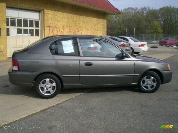 2001 Charcoal Gray Hyundai Accent Gs Coupe  12956440 Photo  8