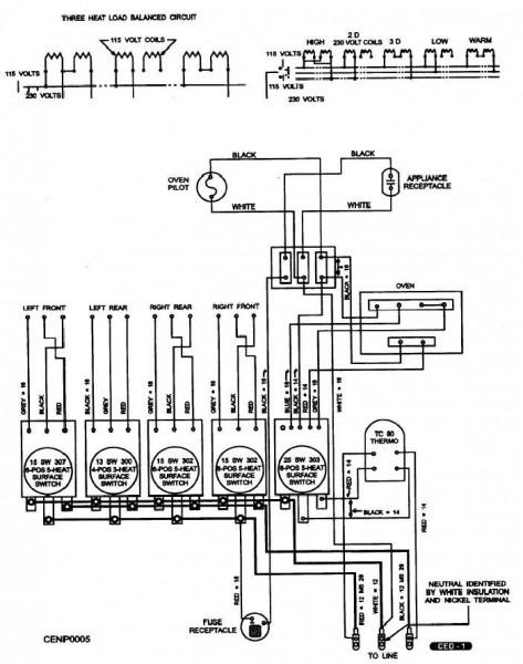3 Prong Range Schematic Wiring Diagram