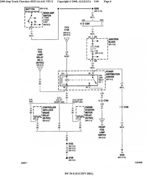 97 Jeep Fog Light Relay Wiring  U2013 Car Wiring Diagram
