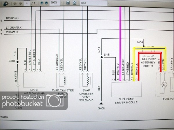 2007 Ford Mustang Fuel System Schematic