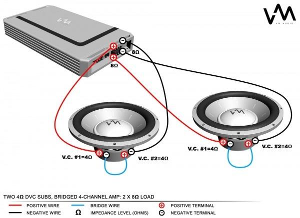 Dual 4 Ohm Subwoofer Wiring Diagram