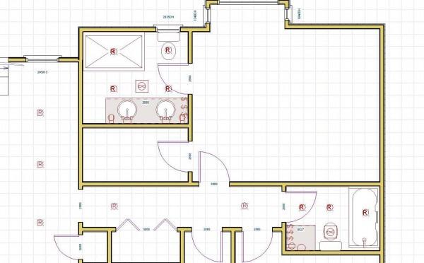Bathroom(s) Wiring Plan