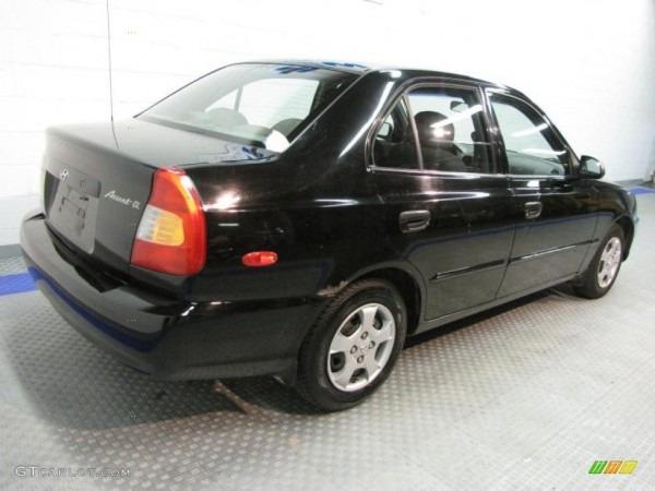 2001 Ebony Black Hyundai Accent Gl Sedan  34581980 Photo  4