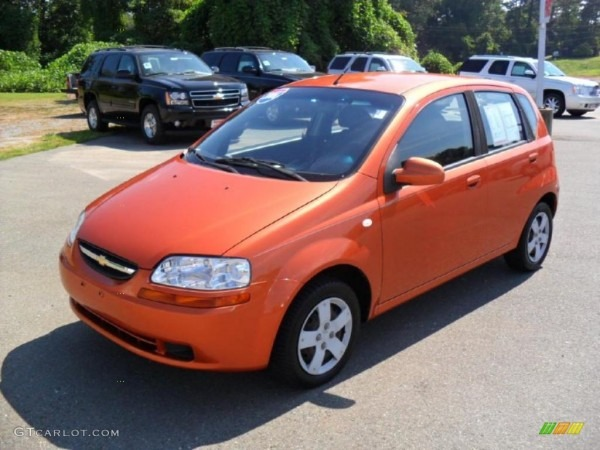 2006 Spicy Orange Chevrolet Aveo Ls Hatchback  35552785