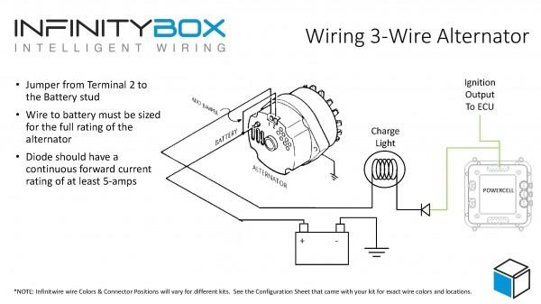 3 Pin Alternator Wiring Diagram