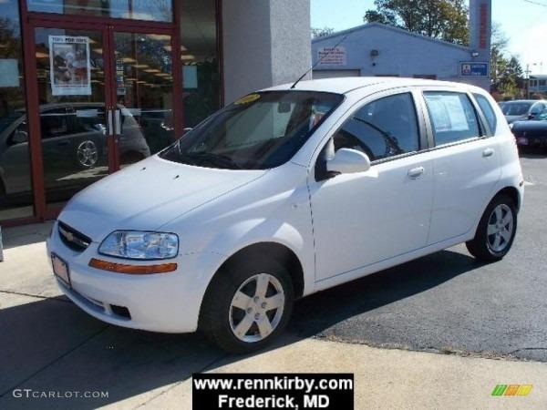 2006 Summit White Chevrolet Aveo Ls Hatchback  4835908