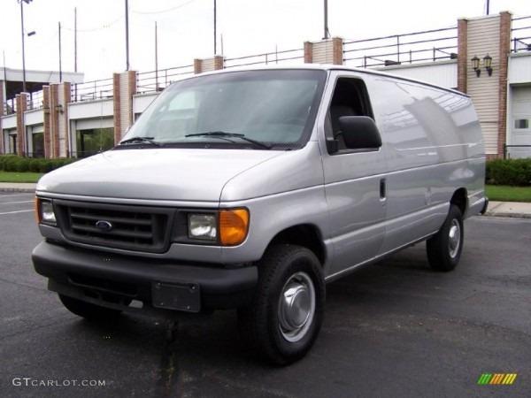 1996 Silver Metallic Ford E Series Van E350 Extended Cargo