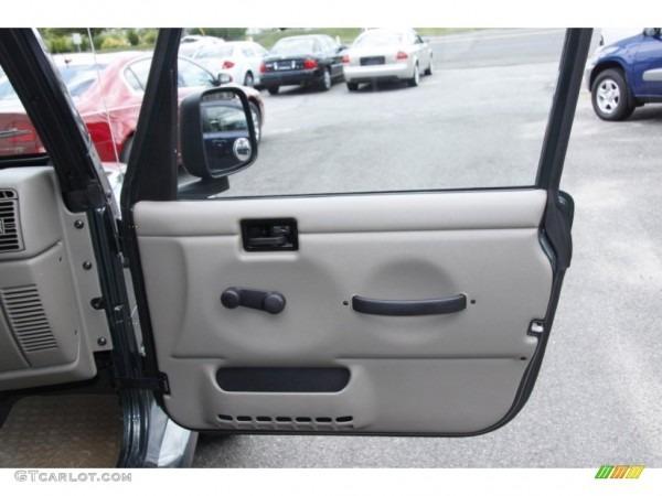 2003 Jeep Wrangler Sahara 4x4 Khaki Door Panel Photo  51194299