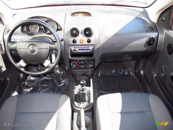2006 Chevrolet Aveo Ls Hatchback Charcoal Dashboard Photo